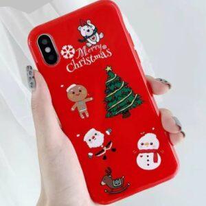 Husa iPhone 7 / iPhone 8, Personaje de Craciun - Merry Christmas