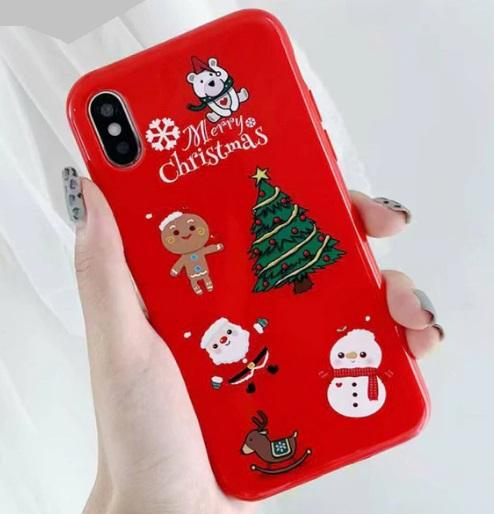 Husa iPhone X / iPhone XS, Personaje de Craciun - Merry Christmas