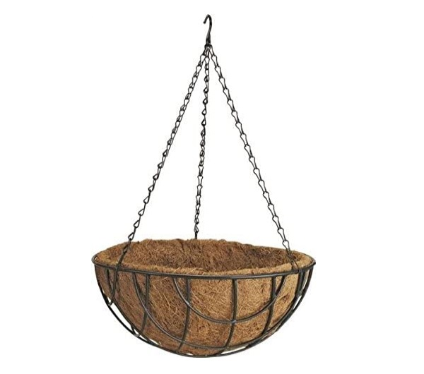 Ghiveci de Flori Agatat / Suspendat din Fibra de Cocos, 30cm