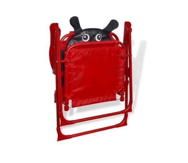 Scaun pliabil pentru copii buburuza rosu exterior gradina
