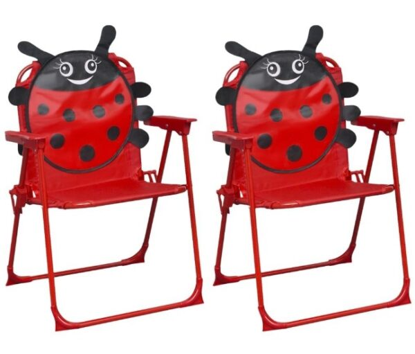 Set mobilier exterior pentru copii Buburuza scaune rosii