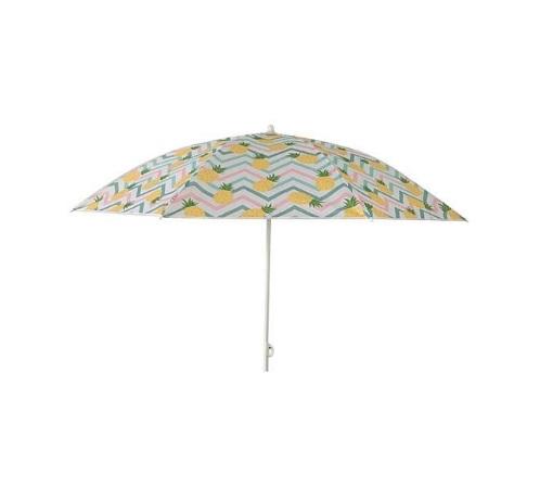 Umbrela rezistenta de plaja ananas, cadru din otel
