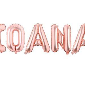 Set Baloane Litere Nume IOANA - Rose Gold