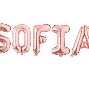 Set Baloane Litere Rose Gold Nume SOFIA - Balon SOFIA