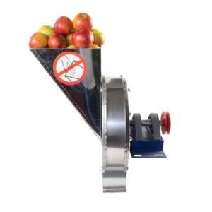 Zdrobitor / Razatoare Fructe Manuala din Inox + Fulie Motor
